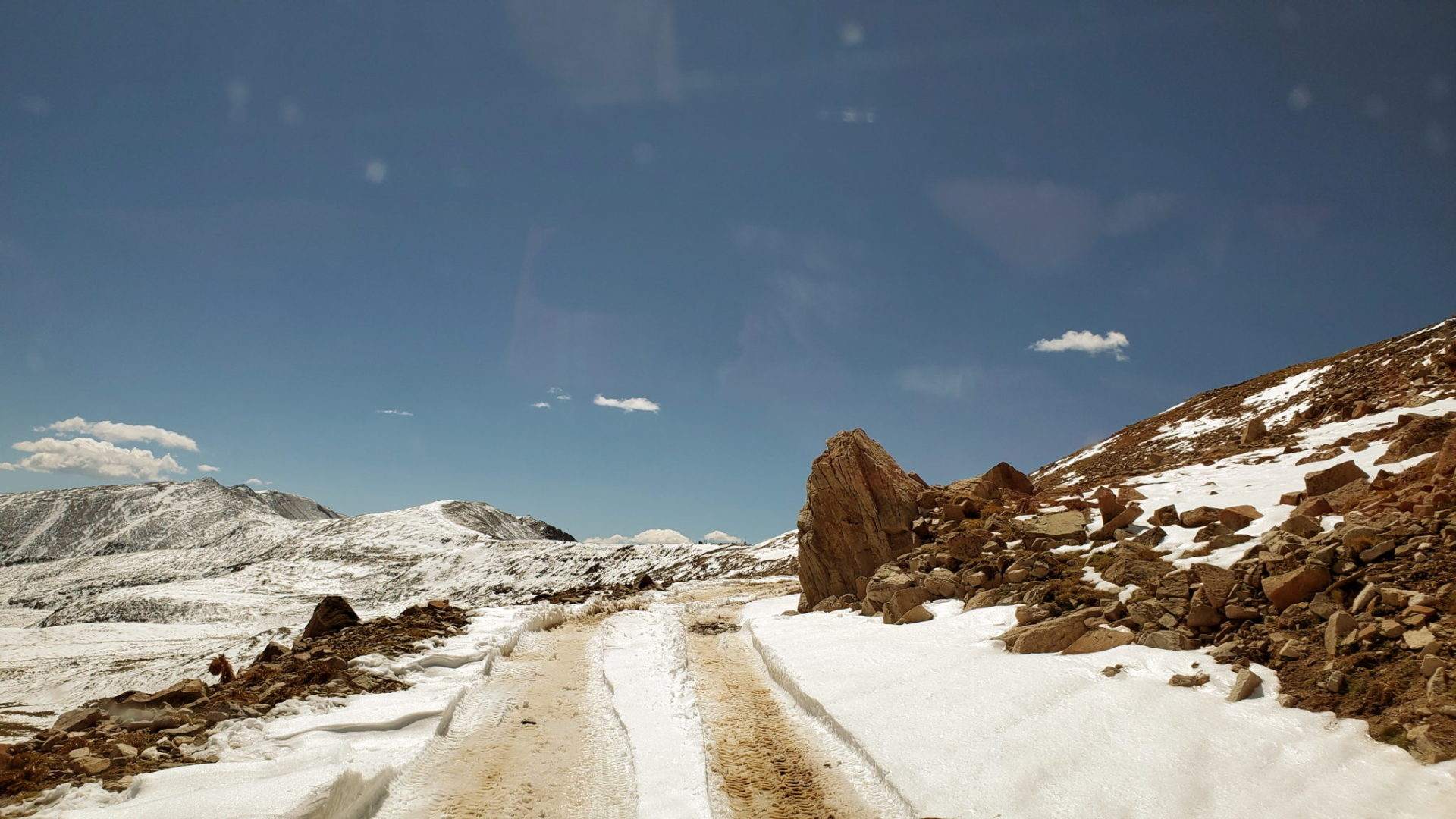 This is not what you want on Mosquito Pass - treacherous road conditions