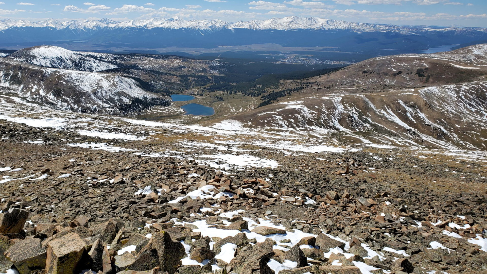 Diamond Lake to the west