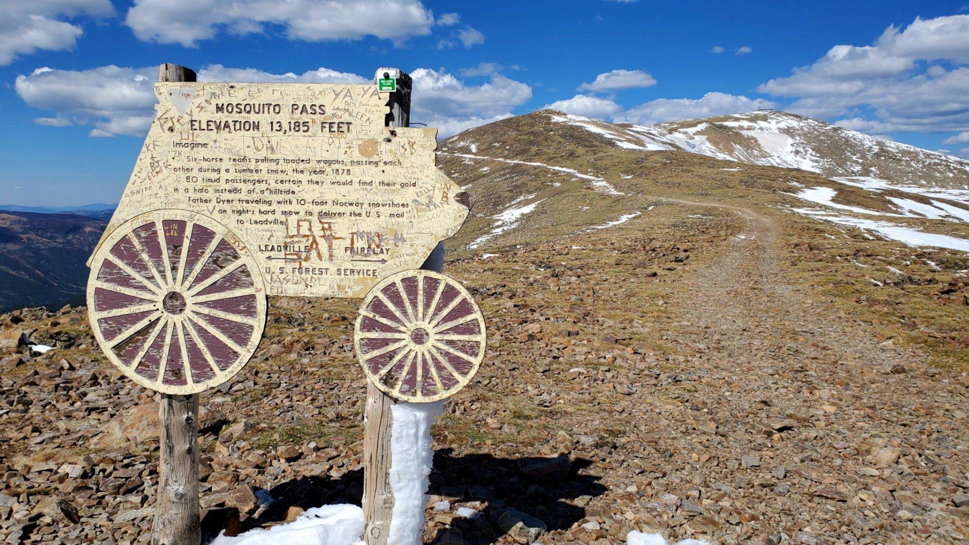 Summit of Mosquito Pass 13,185'
