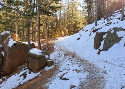 Trail begins with a steep hike