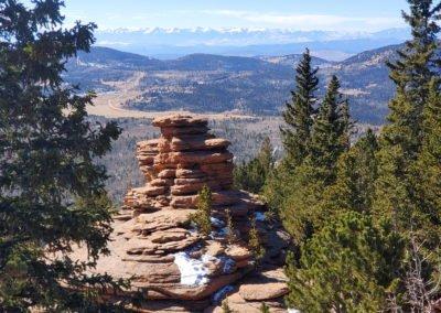 Pancake Rocks looking west