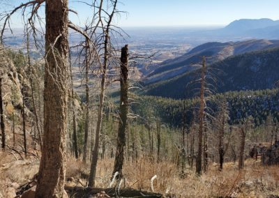 View southeast with Cheyenne mountain in the distance