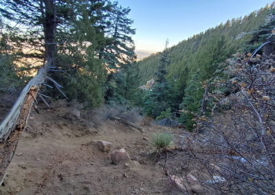 Trail conditions heading into the valley