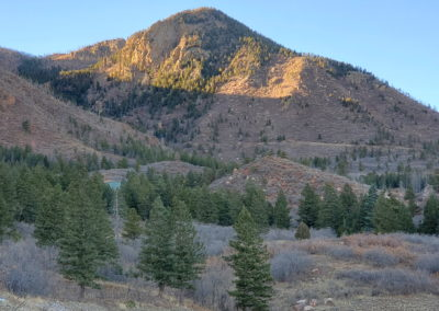 View from the trailhead (Blodgett Peak behind this hill)