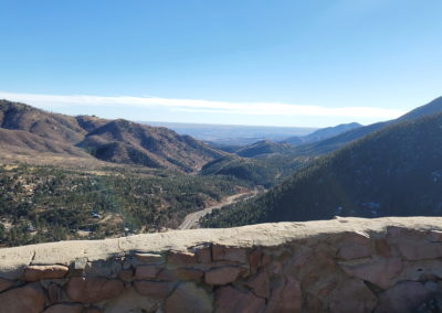 View to the east near the base of Pikes Peak