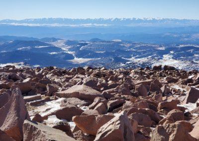 The Sawatch Mountain Range tot he west