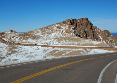 Pikes Peak Hwy is well maintained but without guardrails