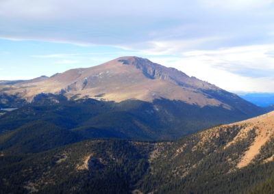 View of Pikes Peak from Almagre Mountain